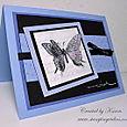 3-D butterfly card